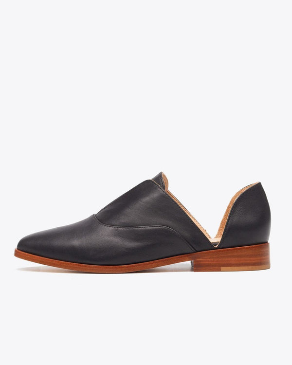 Nisolo Emma d'Orsay Oxford Black Women's Leather Oxford Nisolo
