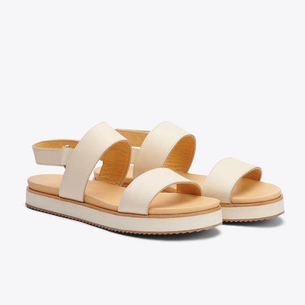 Nisolo Go-To Flatform Sandal Bone Women's Leather Sandal Nisolo