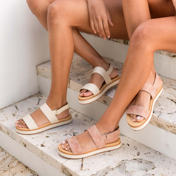 Nisolo Go-To Flatform Sandal Desert Rose Women's Leather Sandal Nisolo