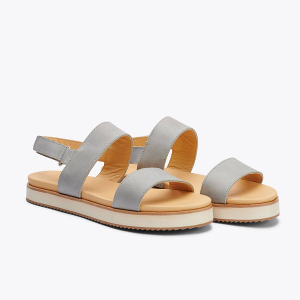 Nisolo Go-To Flatform Sandal Sky Grey Women's Leather Sandal Nisolo