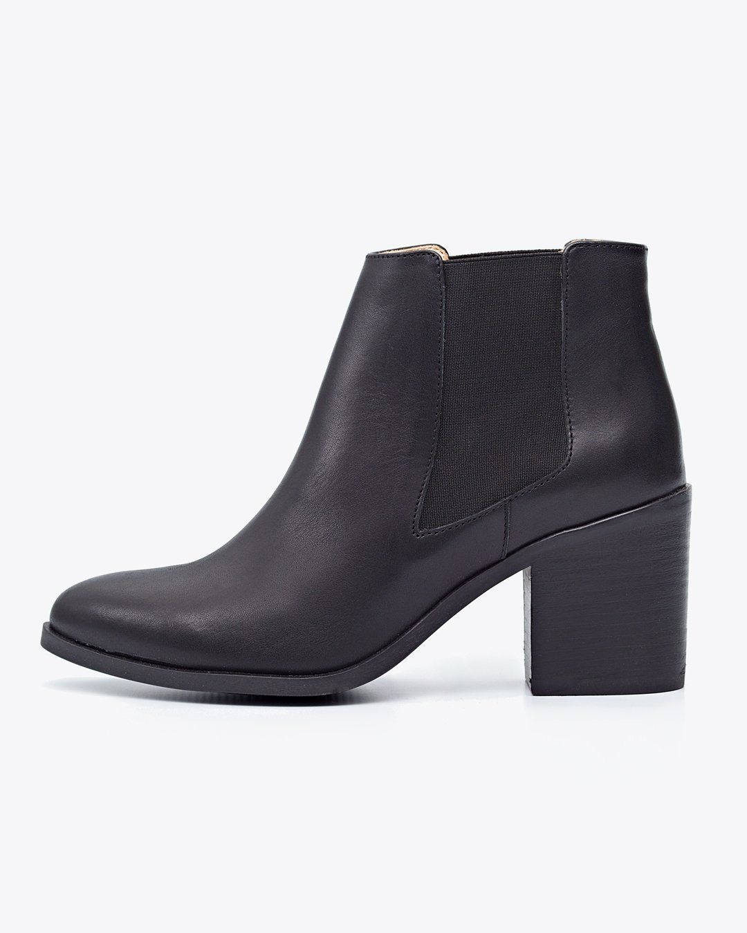 Nisolo Heeled Chelsea Boot Black Women's Leather Boot Nisolo