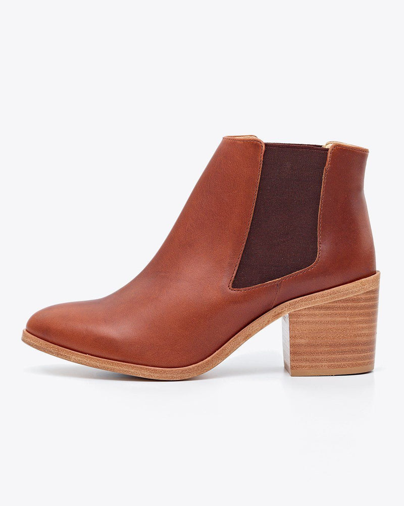 Nisolo Heeled Chelsea Boot Brandy Women's Leather Boot Nisolo
