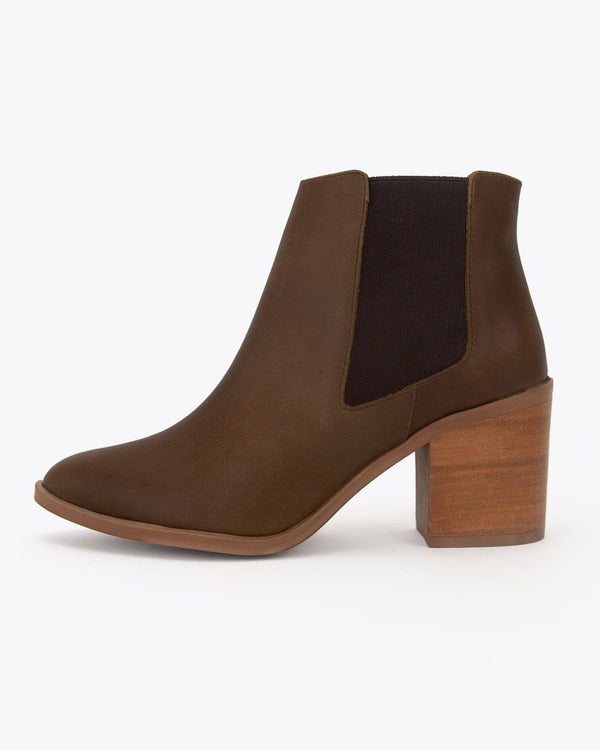 Nisolo Heeled Chelsea Boot Brown Women's Leather Boot Nisolo