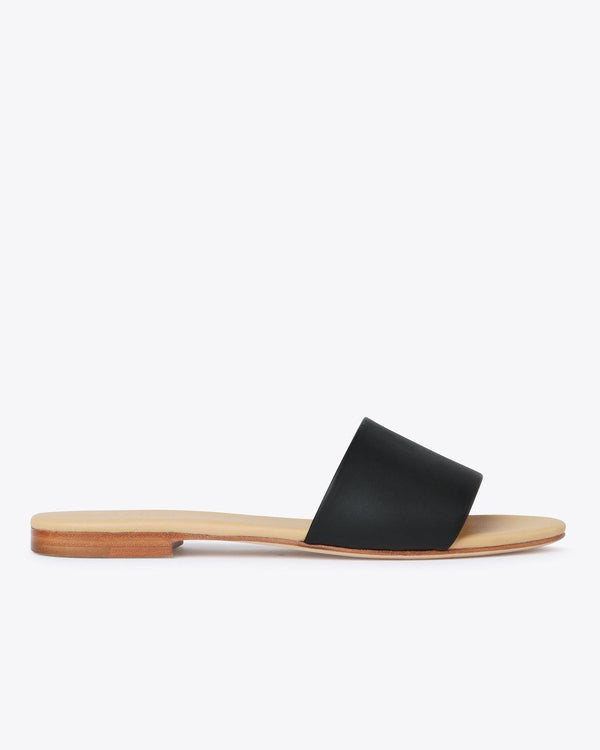 Nisolo Isla Slide Black Women's Leather Sandal Nisolo