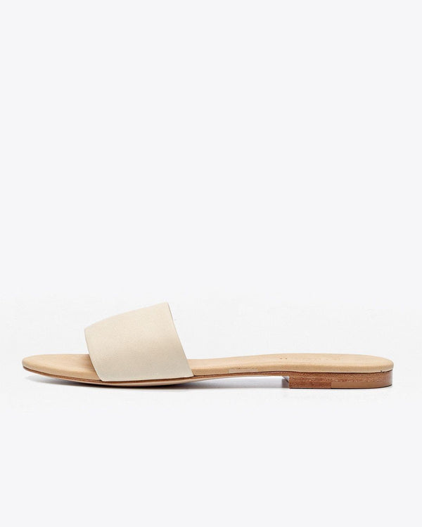 Nisolo Isla Slide Sandal Bone Women's Leather Sandal Nisolo