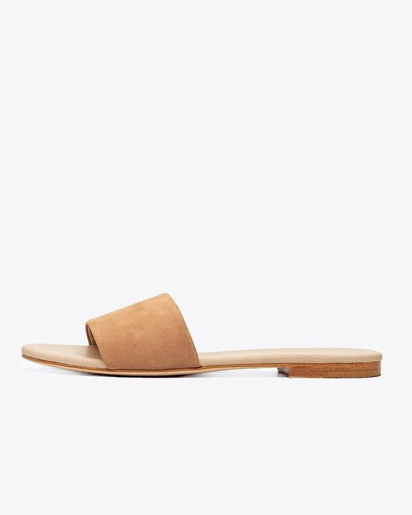 Nisolo Isla Slide Sandal Sand Women's Leather Sandal Nisolo