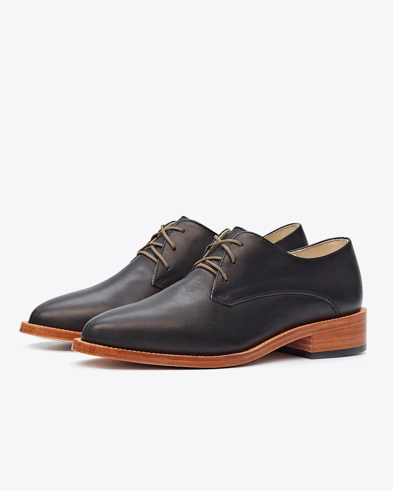 Nisolo James Oxford Black Women's Leather Oxford Nisolo