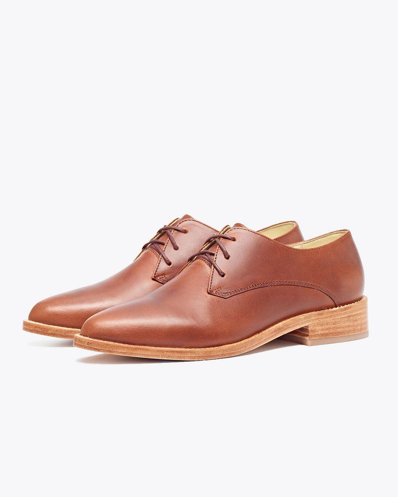 Nisolo James Oxford Brandy Women's Leather Oxford Nisolo