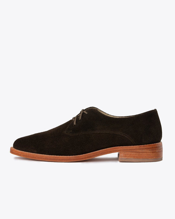 Nisolo James Oxford Dark Olive Women's Leather Oxford Nisolo