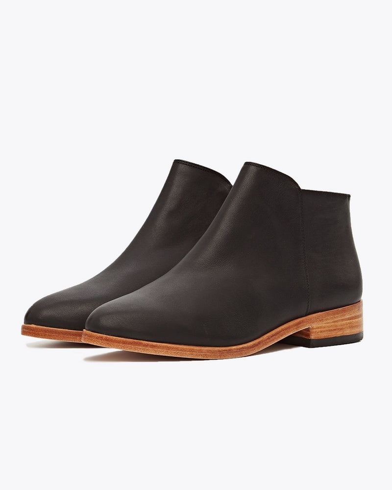 Nisolo Lana Ankle Boot Black Women's Leather Boot Nisolo