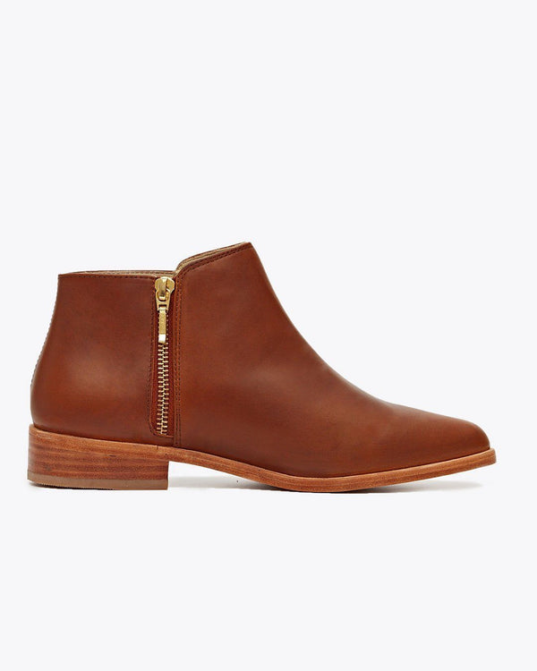 Nisolo Lana Ankle Boot Brandy Women's Leather Boot Nisolo
