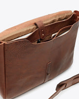 Nisolo Loreto Messenger Bag Chestnut Leather goods Nisolo-5009747116095