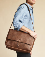 Nisolo Loreto Messenger Bag Chestnut Leather goods Nisolo-5009553850431