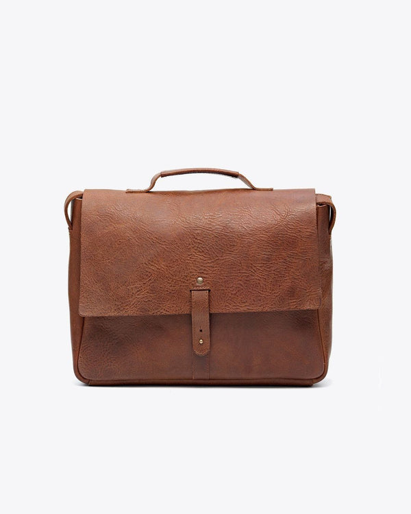 Nisolo Loreto Messenger Bag Chestnut Leather goods Nisolo