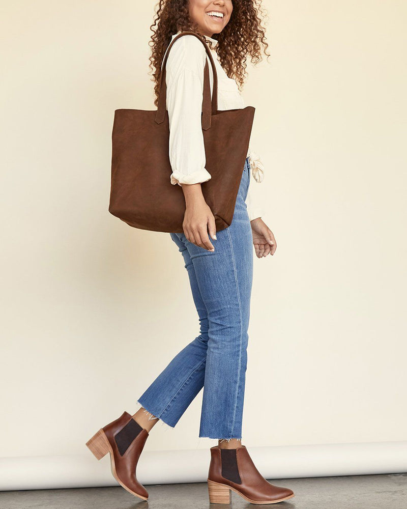 Nisolo Lori Tote Oak Leather Handbag - unlined Nisolo