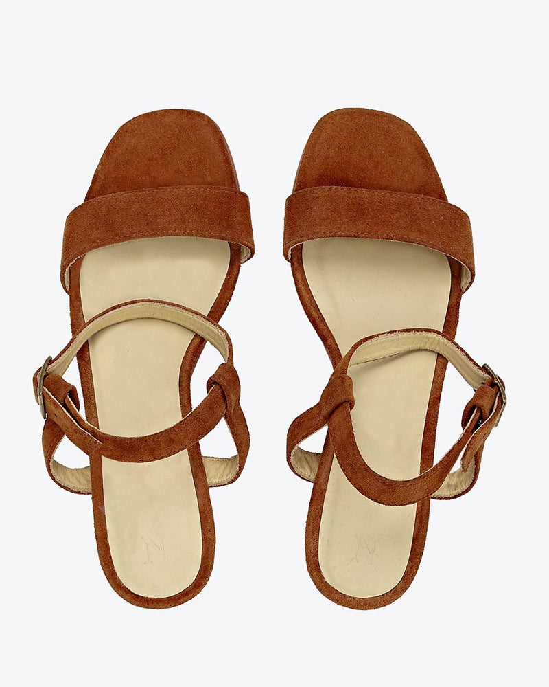 Nisolo Lucia Block Heel Sandal Nutmeg Women's Leather Sandal Nisolo