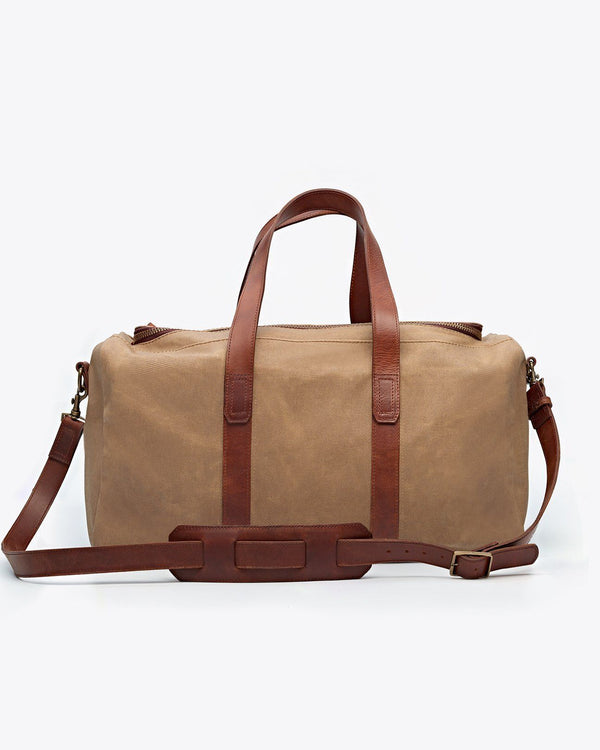 Nisolo Luis Weekender Waxed Canvas Canvas Bag Nisolo