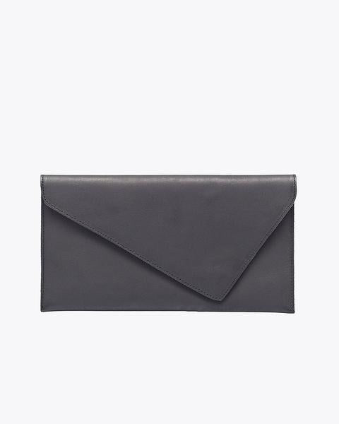 Nisolo Luisa Clutch Black Leather Clutch Nisolo