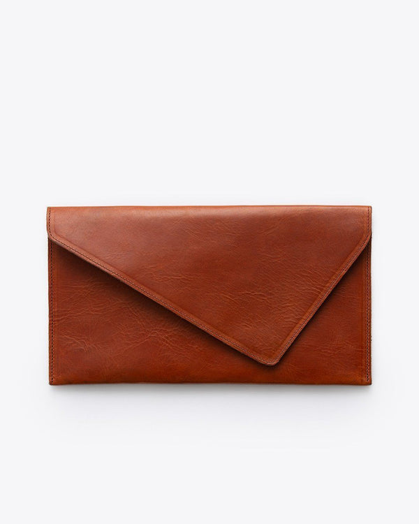 Nisolo Luisa Clutch Rosewood Leather Clutch Nisolo