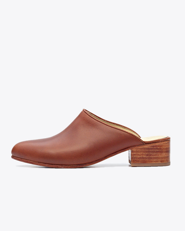 Nisolo Mariella Mule Brandy Women's Leather Heel Nisolo