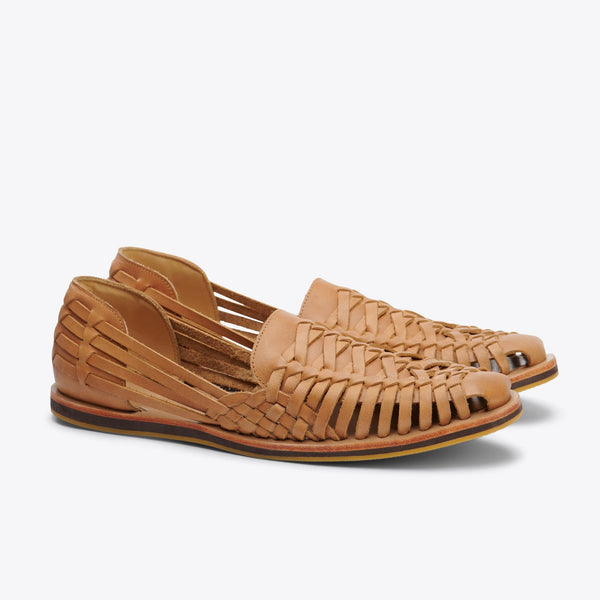 Nisolo Men's Huarache Sandal Almond Men's Leather Slip On Nisolo