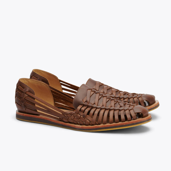 Nisolo Men's Huarache Sandal Brown Men's Leather Slip On Nisolo
