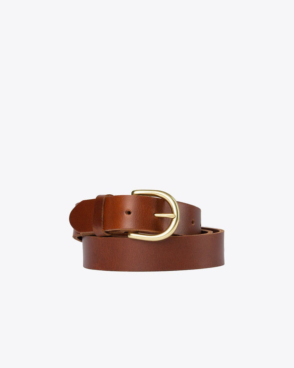 Nisolo Noemi Belt Brandy Leather Belt Nisolo