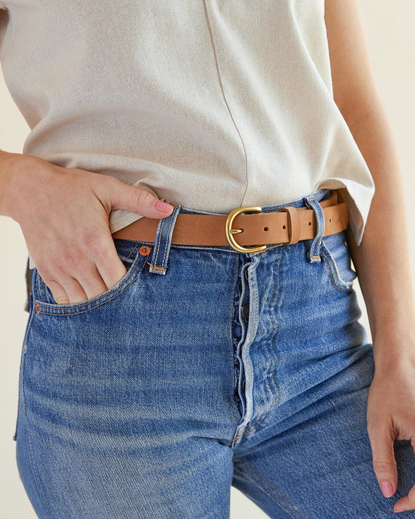 Nisolo Noemi Belt Sand Leather Belt Nisolo