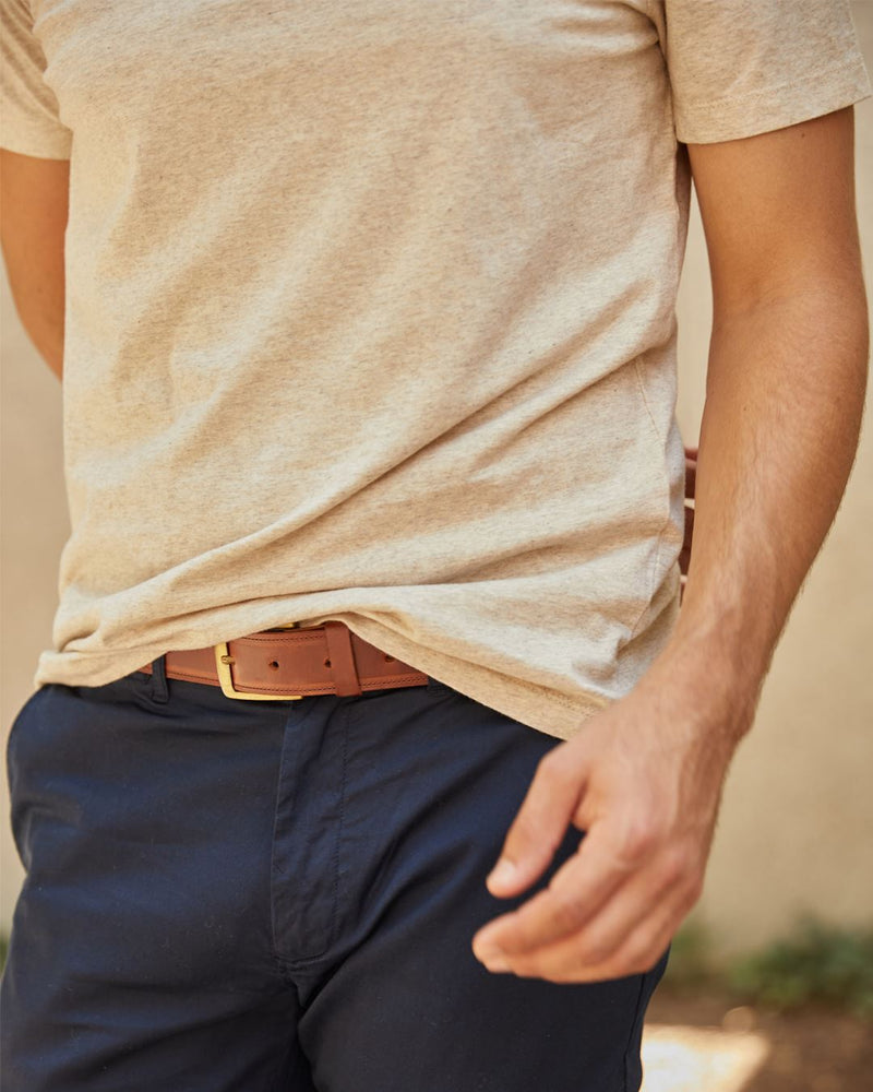 Nisolo Owen Belt Brandy Leather Belt Nisolo