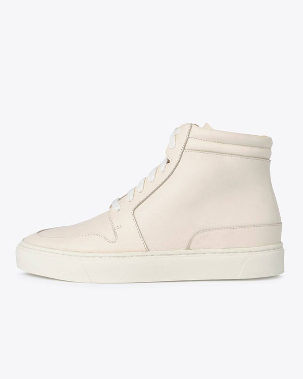Nisolo Reina High Top Sneaker Bone Women's Leather Sneaker Nisolo