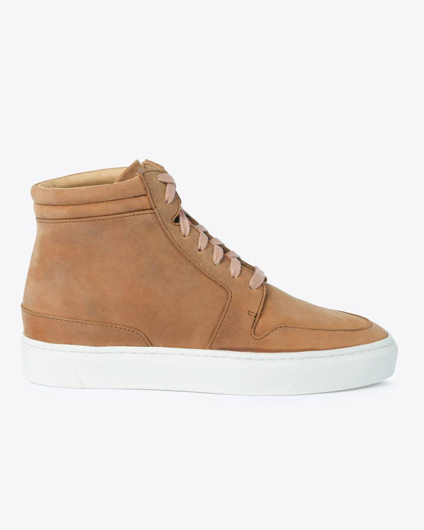 Nisolo Reina High Top Sneaker Tobacco Women's Leather Sneaker Nisolo