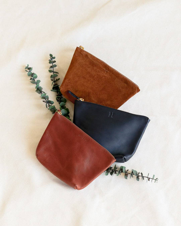 Nisolo Rosa Pouch Rosewood Leather Clutch Nisolo