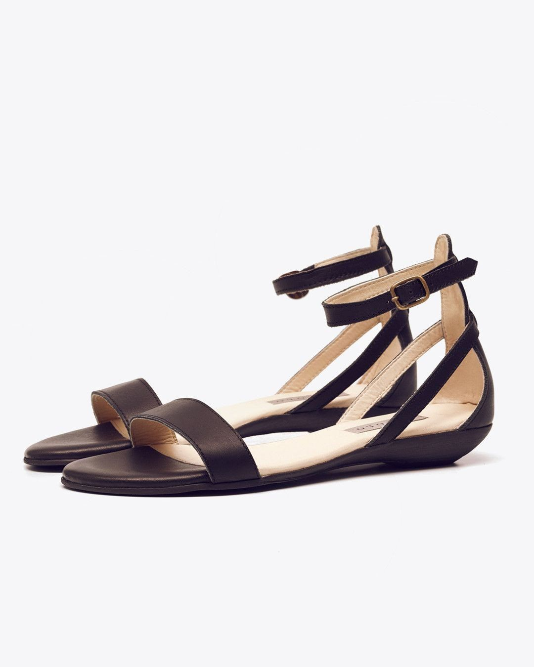 Nisolo Serena Sandal Black Women's Leather Sandal Nisolo