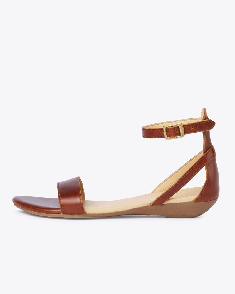 Nisolo Serena Sandal Brandy Women's Leather Sandal Nisolo