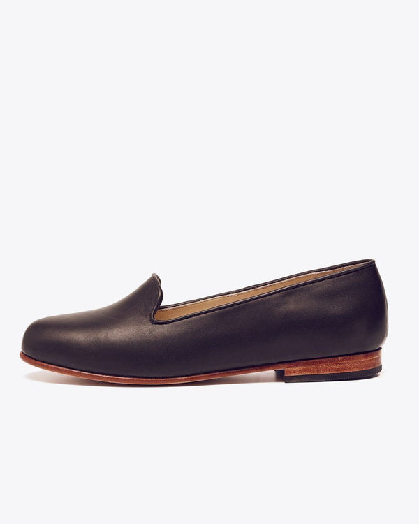 Nisolo Smoking Shoe Black Women's Leather Loafer Nisolo