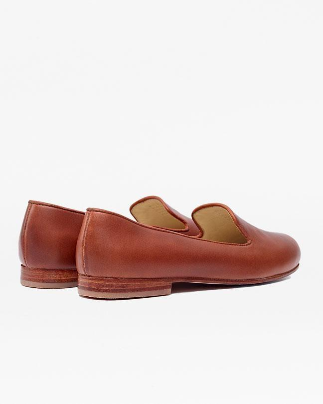 Nisolo Smoking Shoe Brandy Women's Leather Loafer Nisolo