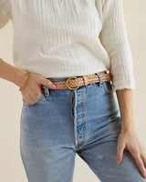Nisolo Talia Braided Belt Natural Leather Belt Nisolo-5373829480511
