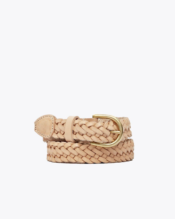 Nisolo Talia Braided Belt Natural Leather Belt Nisolo