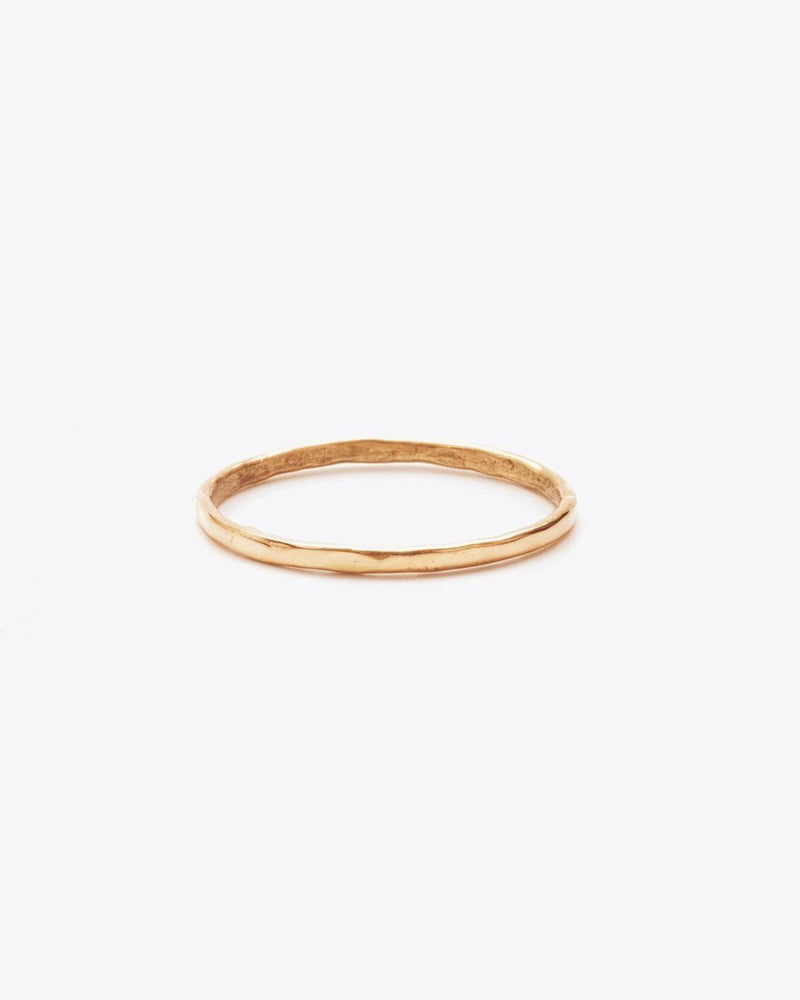 Nisolo Thin Hammered Band Rings Nisolo