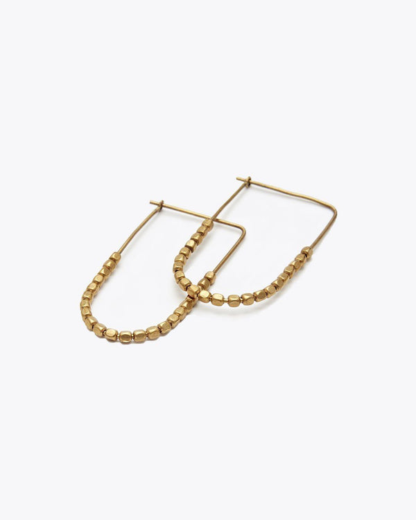 Nisolo Tiny Brass Bead Earrings Jewelry Nisolo