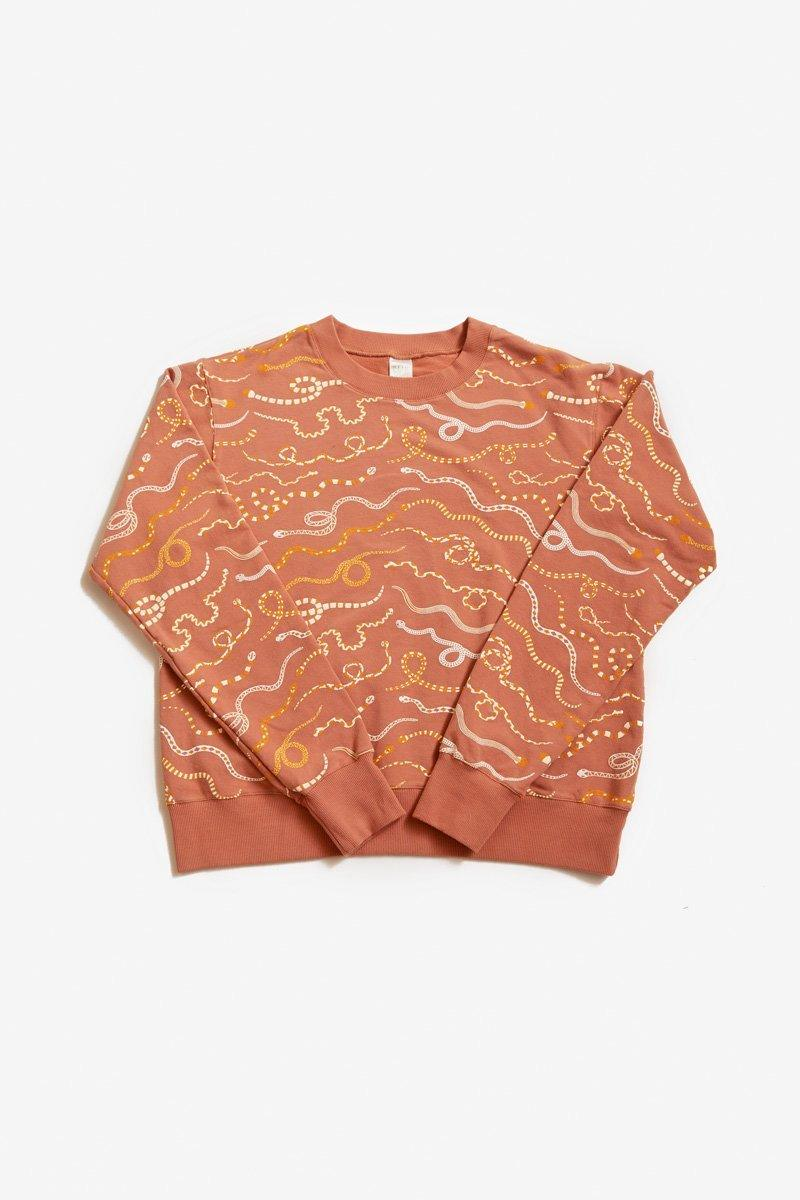 North of West Max Sweatshirt - Sunset - Snake Rainbow Print Sweatshirt North of West