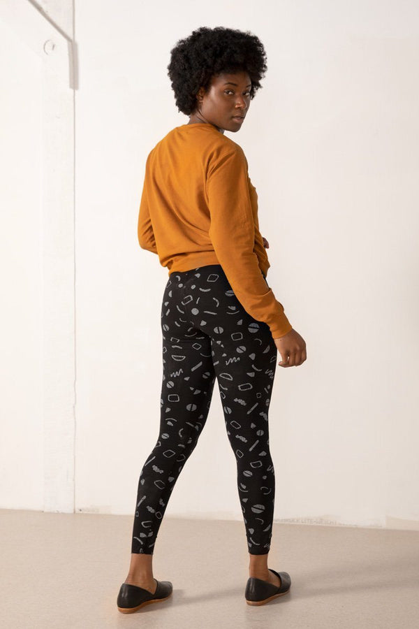 North of West Sammy Legging - Black - Squiggles Print Pant North of West