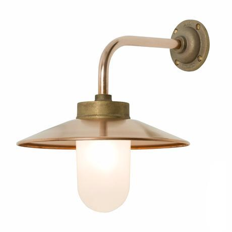 Original BTC Exterior Bracket Light Original BTC Bronze- Frosted Glass