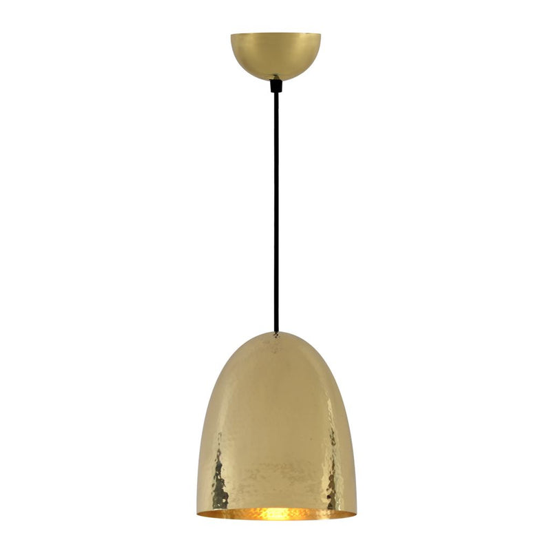 Original BTC Stanley Medium Brass Pendant Light Original BTC Hammered