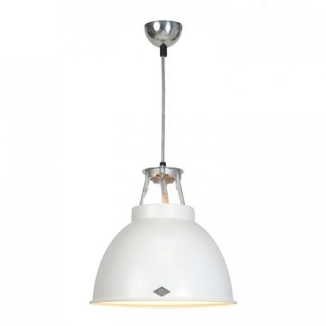 Original BTC Titan Size 1 Pendant Light Original BTC White with White Interior