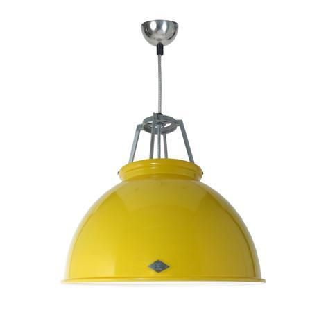 Original BTC Titan Size 3 Pendant Light ETC Original Yellow with White Interior