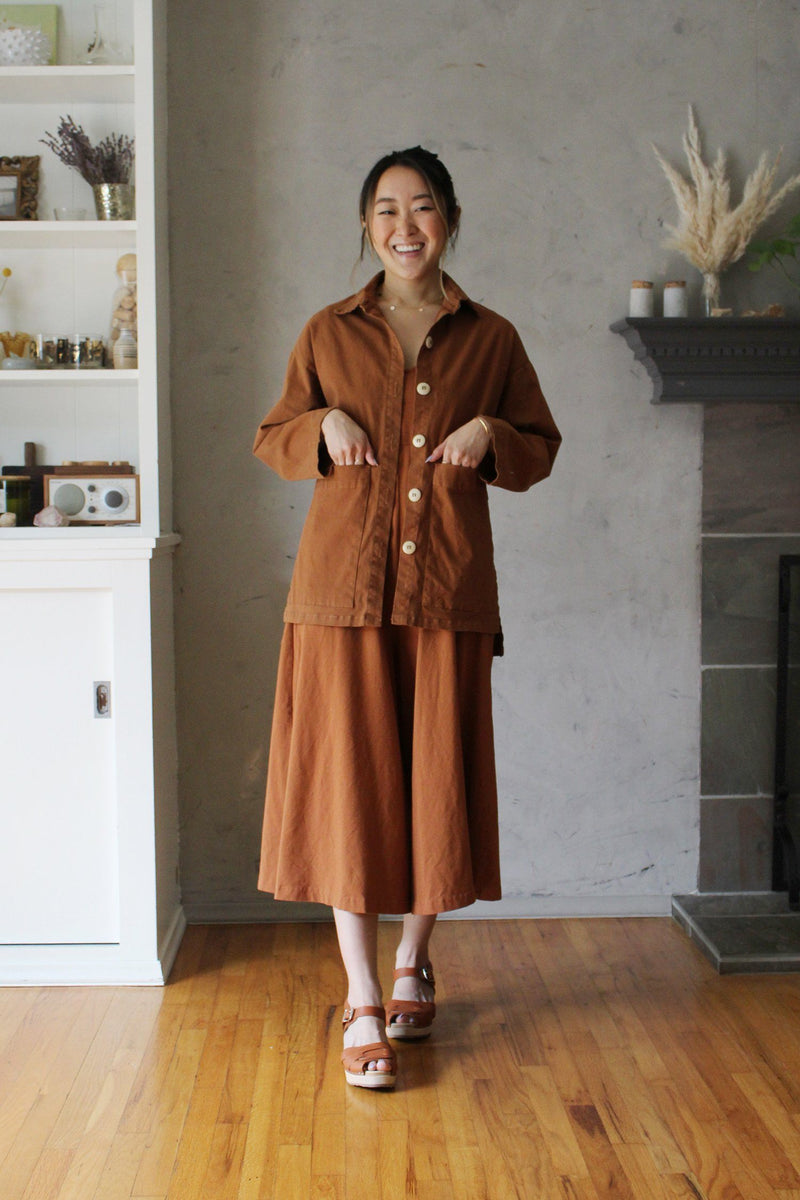 Painters Button Jacket - Saddle Brown JACKET Mien