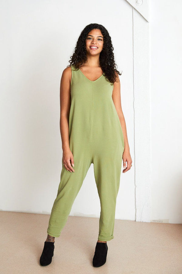 Parker Organic Cotton Jumpsuit - Moss Jumpsuit North of West