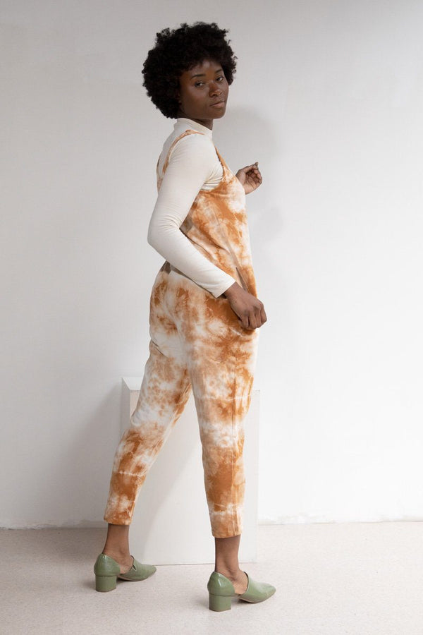 Parker Tie Dye Organic Cotton Jumpsuit - Amber Jumpsuit North of West