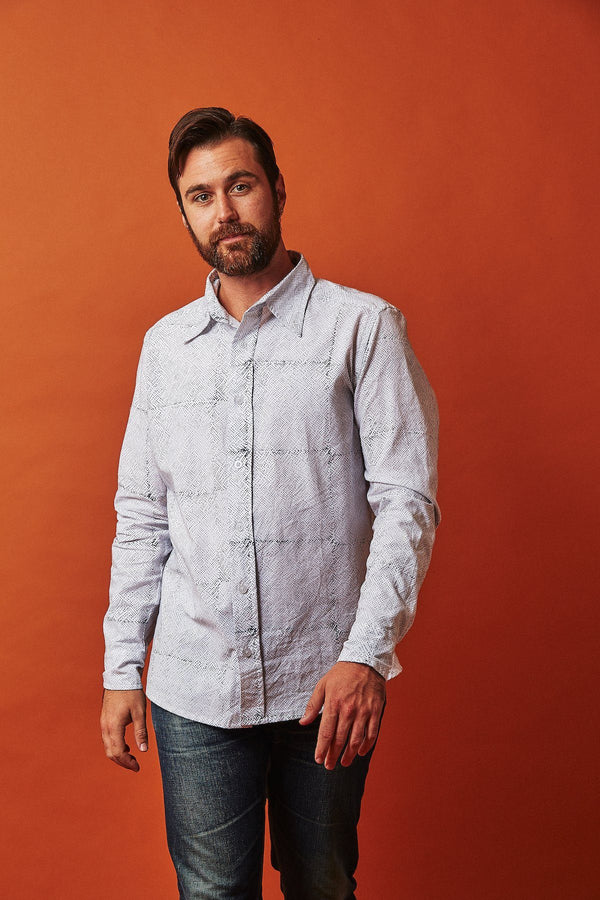 Passion Lilie Avery Men's Button Down Shirt - Organic Cotton men's shirts Passion Lilie